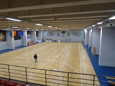 Bucharest Arena: removable sports floor is entirely laid