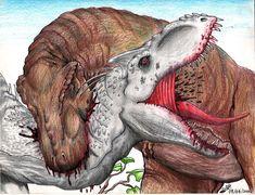 Indominus rex VS Tyrannosaurus rex by TheYahid.deviantart.com on @DeviantArt