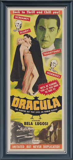 Dracula Movie Poster Bella Lugosi cross by Buzzbeedesigns