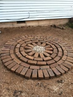 Creative Endeavors: Brick Patio Tutorial Perfect size for small bistro set