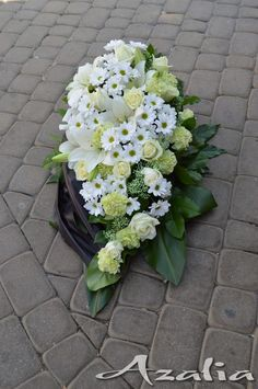 Funeral Flower Arrangements, Funeral Flowers, Floral Arrangements, Grave Decorations, Casket Sprays, Flower Wall Decor, Arte Floral, Flower Boxes, Ikebana
