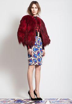 MSGM   Red fur jacket