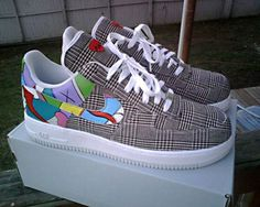 super popular 09a20 4d688 Nike Airforce 1 Yeezy Style Nike Airforce 1, Custom Air Force 1, Custom  Sneakers