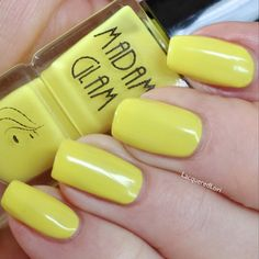 Holy Yellow by Madam Glam | Soft Pastel Yellow  Happy, bright and sunny! Sounds like the perfect shade to bring a smile to your day. Wear it whenever you feel like summer!  Formula  Jelly Three thin coats for full opacity Very smooth to apply 0.5 oz - This product is 5-free and Cruelty-Free ! Visit us on www.madamglam.com