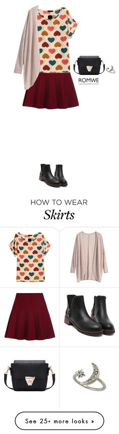 """""""Romwe skirt"""" by bondril on Polyvore featuring women's clothing, women, female, woman, misses, juniors, contest, skirt and romwe"""