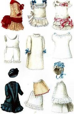 13 Antique Vintage Doll Garments Dress Patterns Gildebrief Die Modenwelt I New | eBay