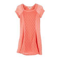 Copper Key 4-6X Knit Dress ($11) ❤ liked on Polyvore featuring dresses, red dress, knit dress, copper key and red knit dress