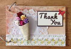 ミニアルバム Thank you by:りのママ #スクラップブッキング