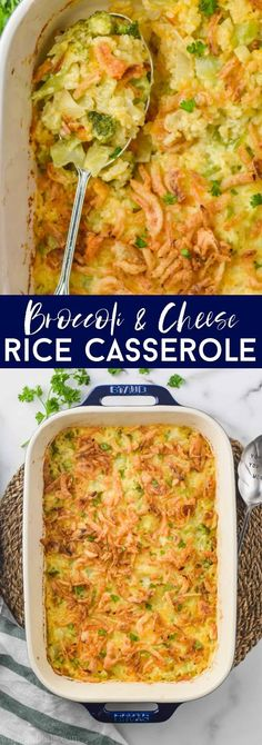 This Broccoli Rice Casserole is such an easy and delicious side dish. With just 5 minutes of prep time it is perfect for a weeknight meal. Yet the delicious and rich flavor of this broccoli cheese rice casserole makes it the perfect side for ham or top round roast beef recipe at a holiday meal.