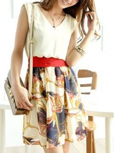 Lace Up Floral Summer Dress