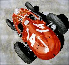 Moto Mania - Epic Cars & Racing Photos, since 2008 Ferrari Racing, Ferrari F1, Car Illustration, Illustrations, Formula 1 Car, Car Sketch, Automotive Art, Good Old, Cool Artwork