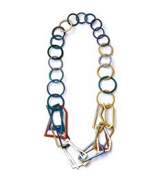 Danni Schwaag Necklace: untitled 01, 2014 Enamel on copper length: 60cm