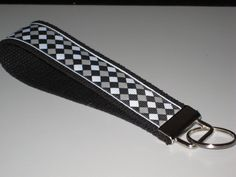 Popular Black, Gray and White Pattern Key Fob Wristlet by OnceDesignedbyDianne on Etsy