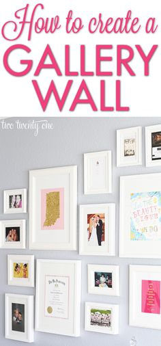 Great tips for creating a gallery wall!