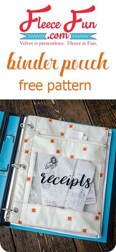 I love this binder pouch sewing tutorial.  Such a great DIY idea, perfect for keeping my craft space organized! Love this sewing project. via @FleeceFun