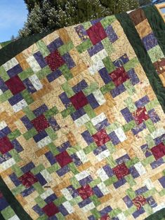 Quilt Pattern The Woodsmen's Puzzle Baby to King Sizes | Etsy Strip Quilts, Boy Quilts, Scrappy Quilts, Quilt Blocks, Mens Quilts, Puzzle Quilt, House Quilts, Layer Cake Quilt Patterns, Layer Cake Quilts