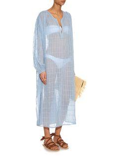 Mes Demoiselles Robe Stargate Stitch V-neck cotton dress | S/S/2016