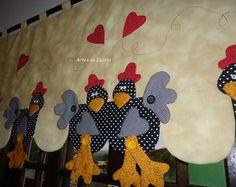 Bando de cortina com galinhas