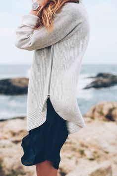 Cozy Cashmere Knit Sweater from VINCE on Jess Kirby of Prosecco & Plaid