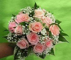 roses and baby's breath