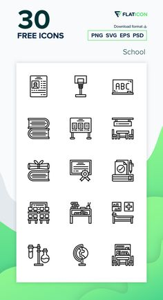 30 School icons for personal and commercial use. Catkuro Lineal icons. Download now free icon pack from Flaticon, the largest database of free vector icons. #Flaticon #icons #teacher #education #school #college