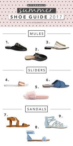 Summer 2017 Shoe guide