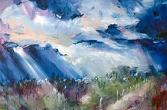 """Outback Storm"" by Amber Gittins. Paintings for Sale. SOLD!"