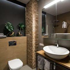 Lirowa industrialna kuchnia od kodo projekty i realizacje wnętrz industrialny   homify Toilet, Mirror, Bathroom, Furniture, Home Decor, Washroom, Flush Toilet, Decoration Home, Room Decor