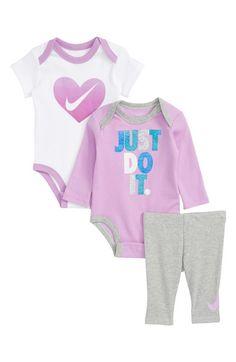 buy popular a9e76 7f605 Main Image - Nike 3-Piece Bodysuit   Pants Set (Baby Girls) Nike
