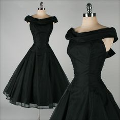 "Vintage 50's black organza ""Suzy Perette"" dress (beautiful)"