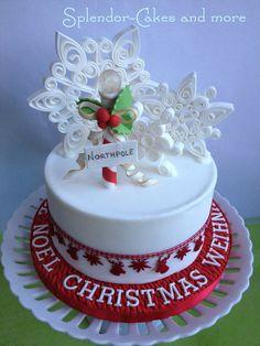 snowflakes cake