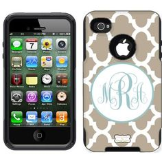 Morrocan design monogrammed otterbox case for your iPhone. Must have!