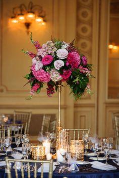 Bouquet: Revel Decor, Event Coordination: Shannon Gail Weddings & Events, Venue: Chicago Symphony Orchestra, Catering: Blue Plate