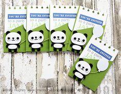 Cricut's Create A Critter panda tags - bjl