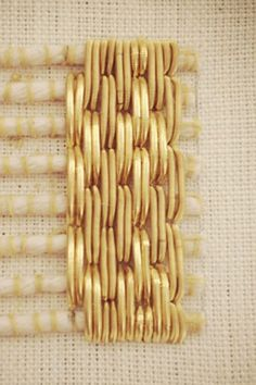Diamond Patterned Goldwork