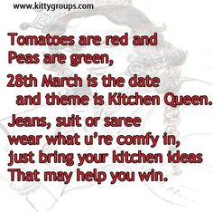 Master Chef/Kitchen Queen Theme Kitty Party Games and Ideas