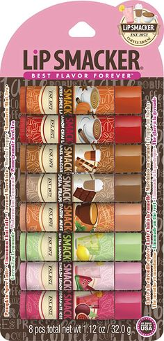 Lip Smacker Coffee and Tea Lip Balm Party Pack- awesome gift for the beverage lover in your life! Green Tea Lemonade, Watermelon Lemonade, Chapstick Lip Balm, Glossier Lip Gloss, Flavored Lip Gloss, Best Lip Balm, My Makeup Collection, Glossy Lips, Lip Care