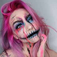 Creative Halloween Makeup Ideas: Colorful Sugarskull Halloween Makeup