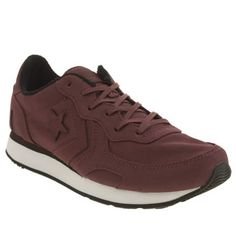 converse auckland racer burgundy trainers