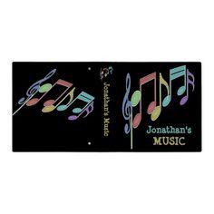 Musical Notes Linear Multicolor Custom Binders