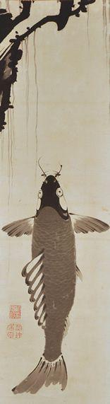 Ito Jakuchu (1716-1800), Japanese, 1798 - hanging scroll, ink on paper, 103 x 30.5 cm