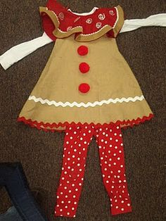 Gingerbread girl costume - would be adorable for Halloween too! @Sarah