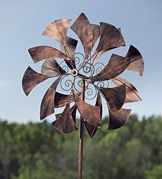 Wind Spinner Metal Sail Sculpture Outdoor Yard Garden Lawn Decor New Bronze