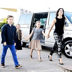 One Direction fans! Crown Princess Mary of Denmark took her two children Prince Christian and Princess Isabella to see One Direction in concert on Tuesday at Parken in Copenhagen