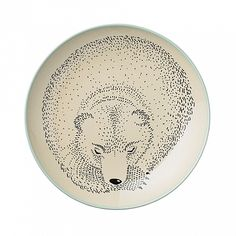 "From Danish design brand Bloomingville, these sleeping bear ceramic plates are as sweet as can be! Size: 9.8"" (25 cm)"