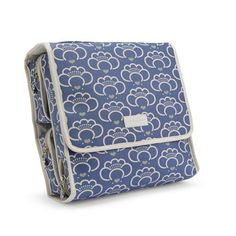 Apple & Bee Carry All Traveler Cosmetic Bag - Lotus Blossom Blue Apple & Bee. $69.95