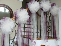 Wedding Pew Bows  ktwomeydesigns@aol.com