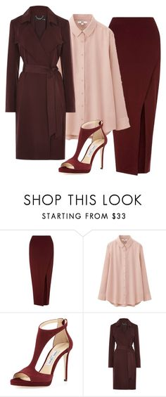 """""""Shanon outfit"""" by ankita-jha ❤ liked on Polyvore featuring Miss Selfridge, Uniqlo and Jimmy Choo"""