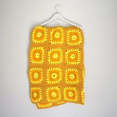 combination of mustard tones and memory jogging crochet...fab