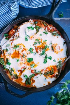 Healthier One Pan Stove Top Lasagna